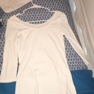 white mid sleeve shirt from old navy, never worn